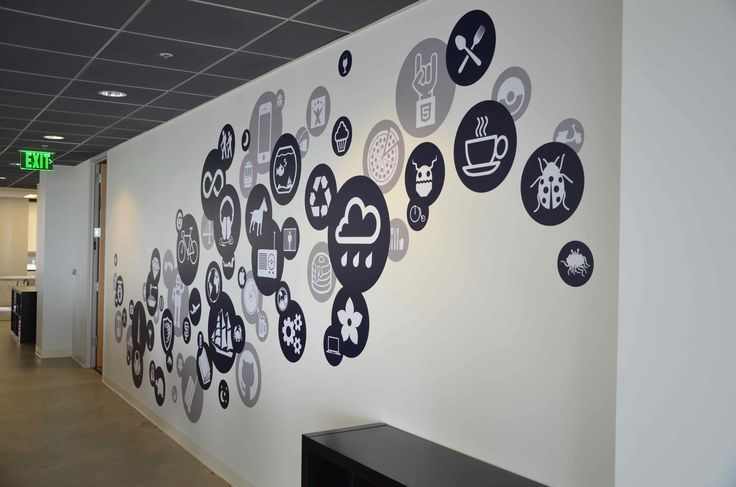 Creative office branding using wall graphics from vinyl for Home office wall decor ideas