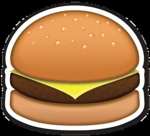 Hamburger Emoji Stickers Emoji Food Stickers