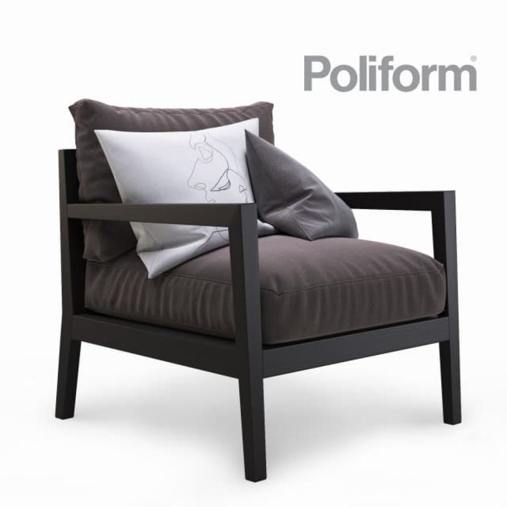 Poliform Stanford Jean Marie Massaud Armchair Furniture Lounge