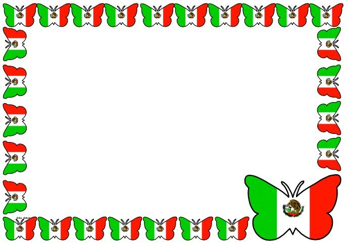 Mexican Flag Themed Lined Paper and Pageborders Download the - lined page