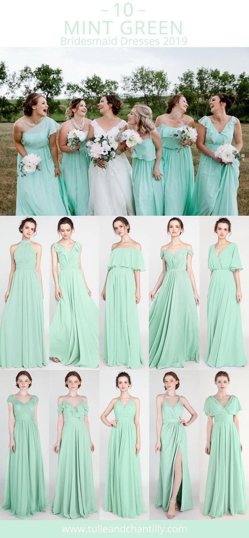 Top 10 Mint Green Bridesmaid Dresses For Wedding Season 2019 Wedding Weddingi Mint Bridesmaid Dresses Mint Green Bridesmaid Dresses Summer Bridesmaid Dresses [ 1726 x 798 Pixel ]