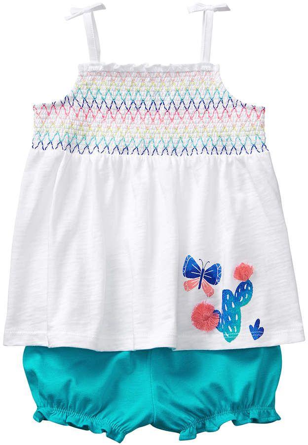 ae9fbcea7e19 Gymboree White   Ceramic Cactus Romper - Newborn   Infant  babygirl ...