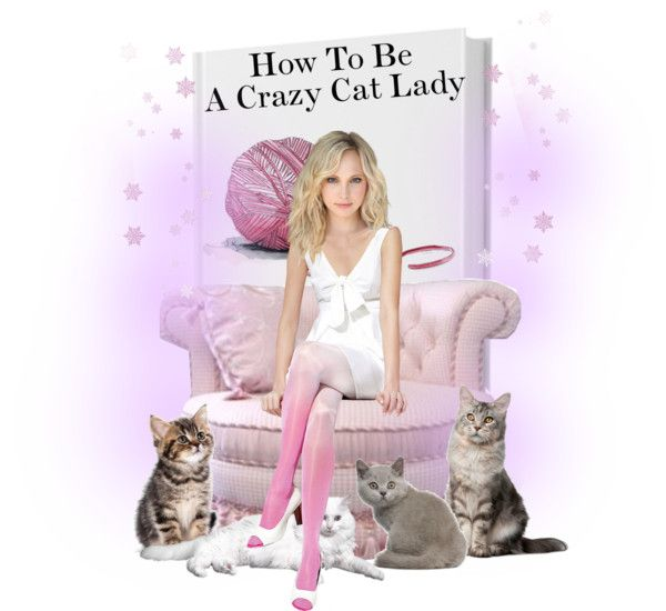 """""""How To Be A Crazy Cat Lady"""" by orangelm ❤ liked on Polyvore"""