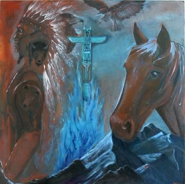 "Saatchi Art Artist Diane Cox; Painting, ""Totem"" #art"
