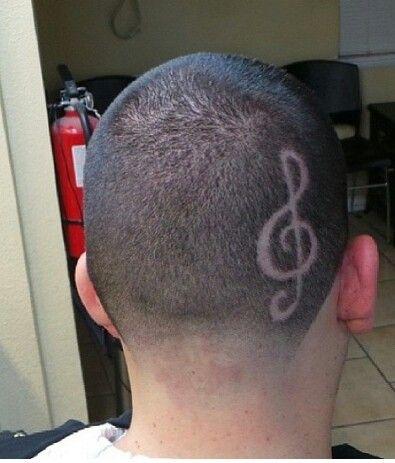 treble clef straight razor design