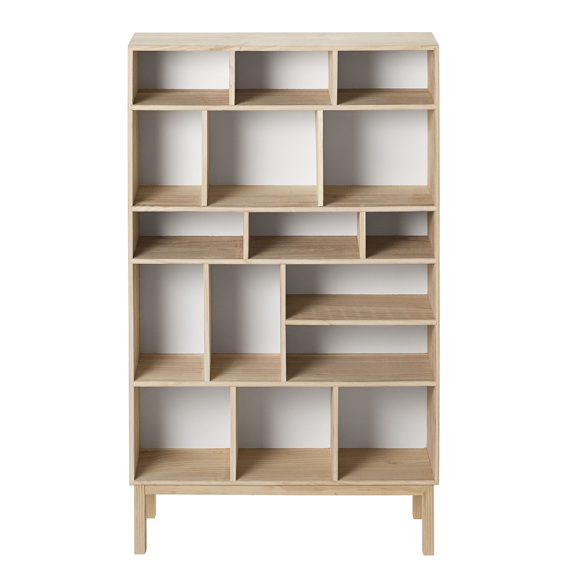 Corner Bookcase Wood storage Living room