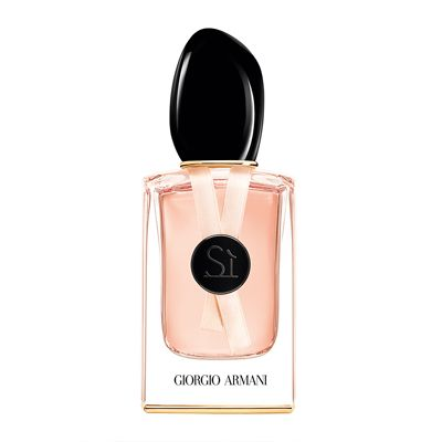 Sî signature rose by Giogio Armani £72. Cheapest i've found for 50ml . Strong. Sensitive. Serene.