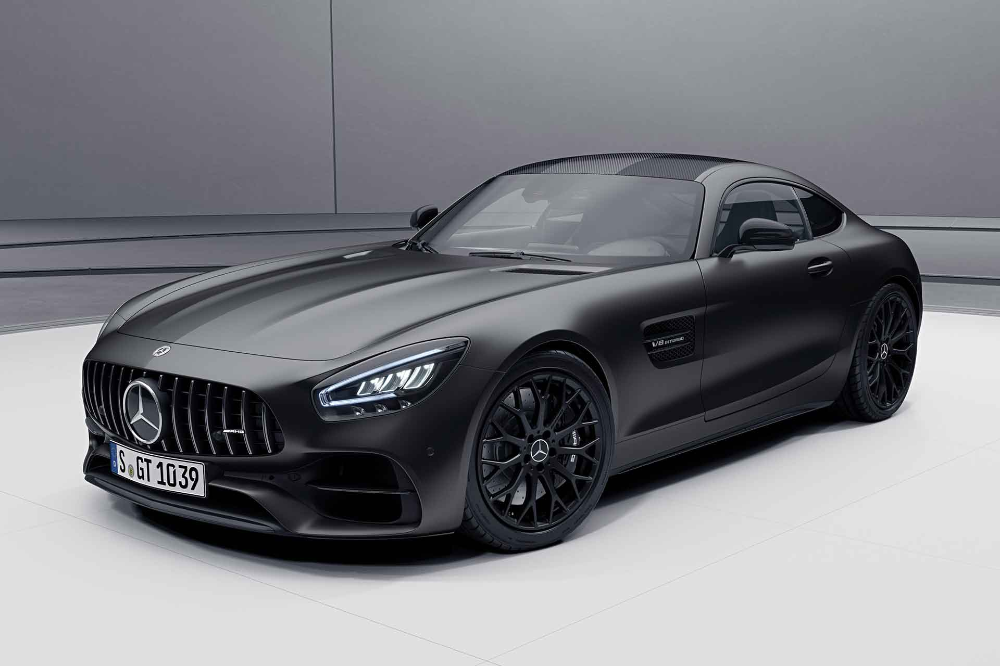 2021 Mercedes Amg Gt Stealth Edition Coupe Roadster Mercedes Amg Mercedes Benz Amg Amg