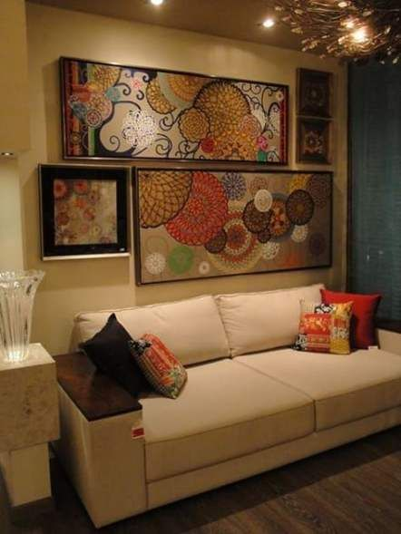 Drawing Room Sofa Designs India: Wall Decored Living Room Canvas Sofas 47 Ideas For 2019