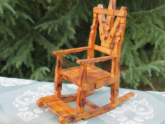 Clothespin rocking chair clothespin crafts and for Small wooden rocking chair for crafts