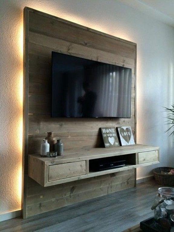 30+ Holzmontierte TVStänderDesigns an der Wand