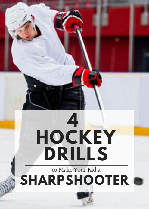 4 Hockey Drills To Make Your Kid A Sharpshooter Hockey Training Hockey Drills Hockey Workouts