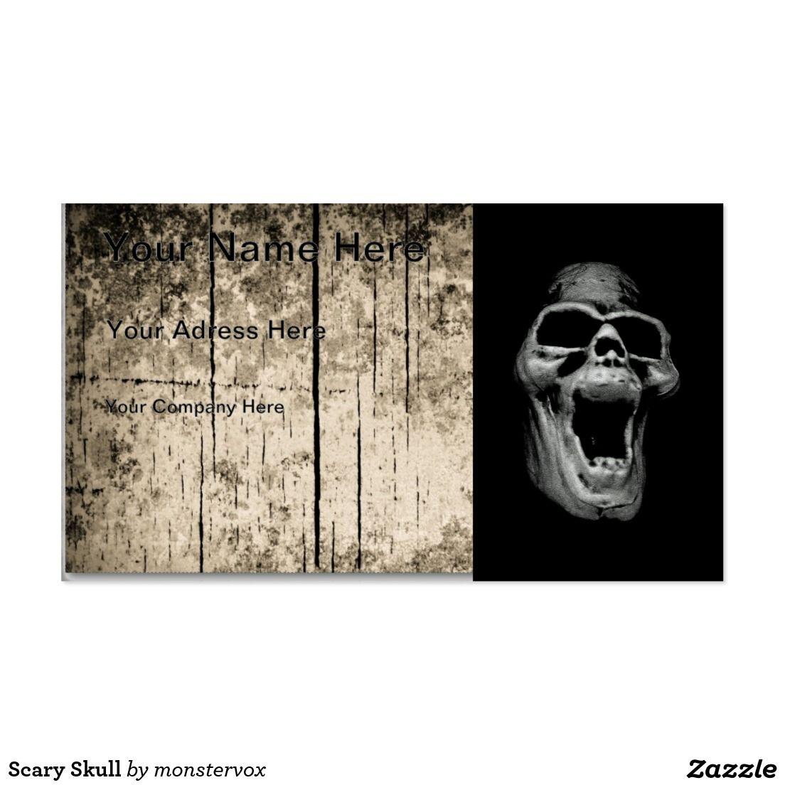 Scary skull business card skull halloween holiday scary shop scary skull business card created by monstervox magicingreecefo Choice Image
