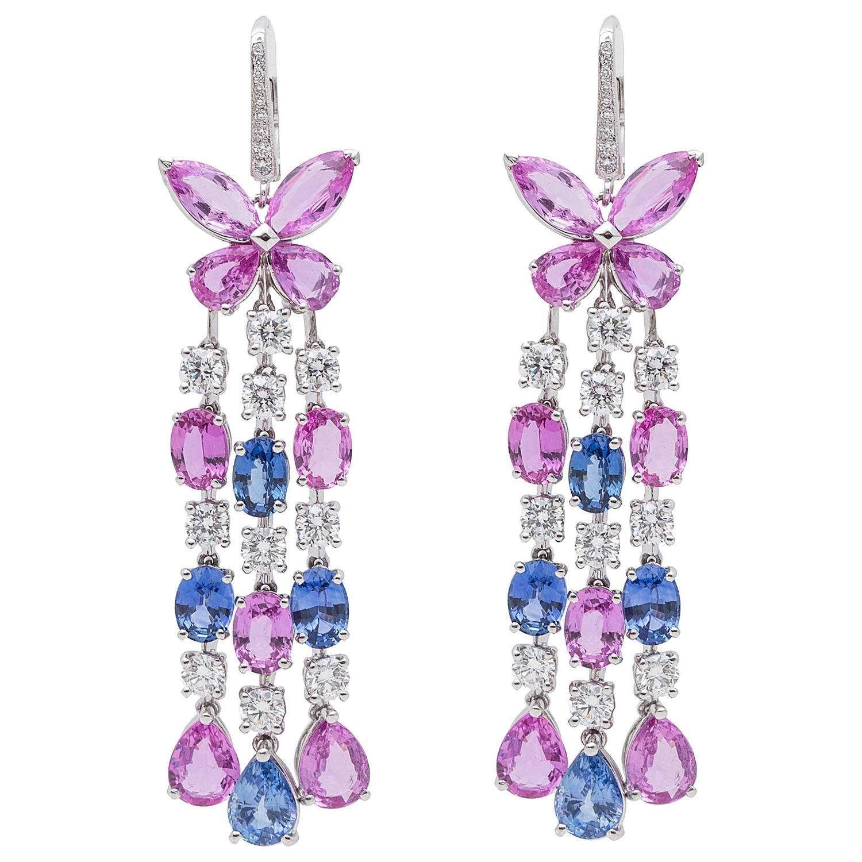 Graff sapphire diamond gold chandelier earrings gold chandelier graff sapphire diamond gold chandelier earrings arubaitofo Choice Image