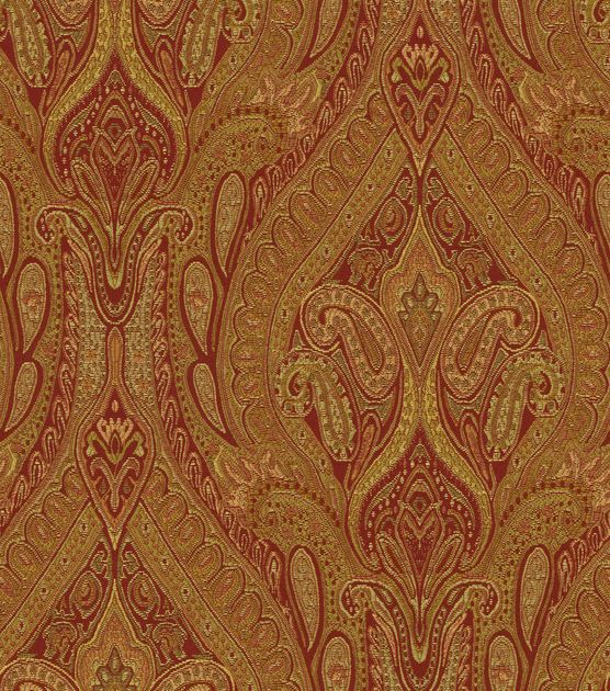 A Traditional Paisley Home Décor Fabric With Elegant Color Combination Perfect For Mix And Match