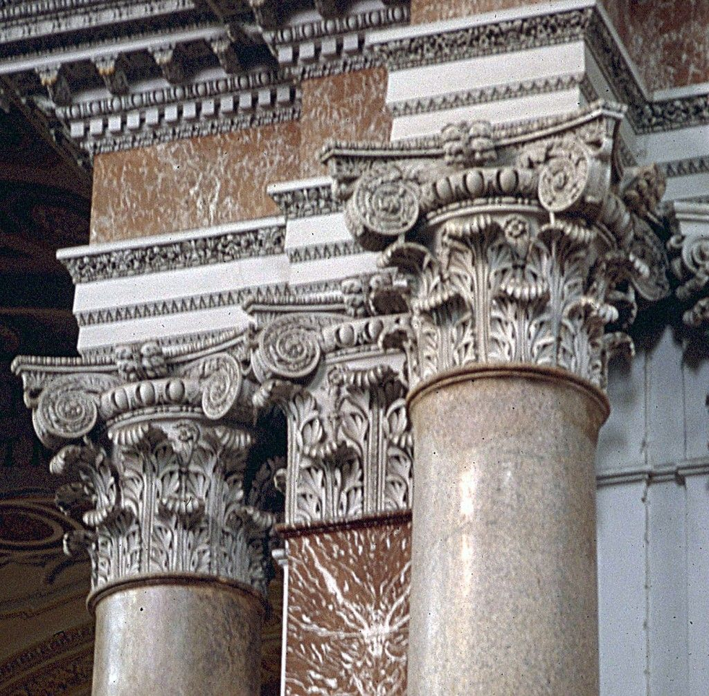 Composite capitals at the Baths of Diocletian in Rome | Greek and ...