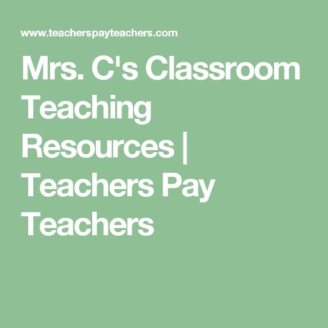 Mrs. C's Classroom Teaching Resources   Teachers Pay Teachers