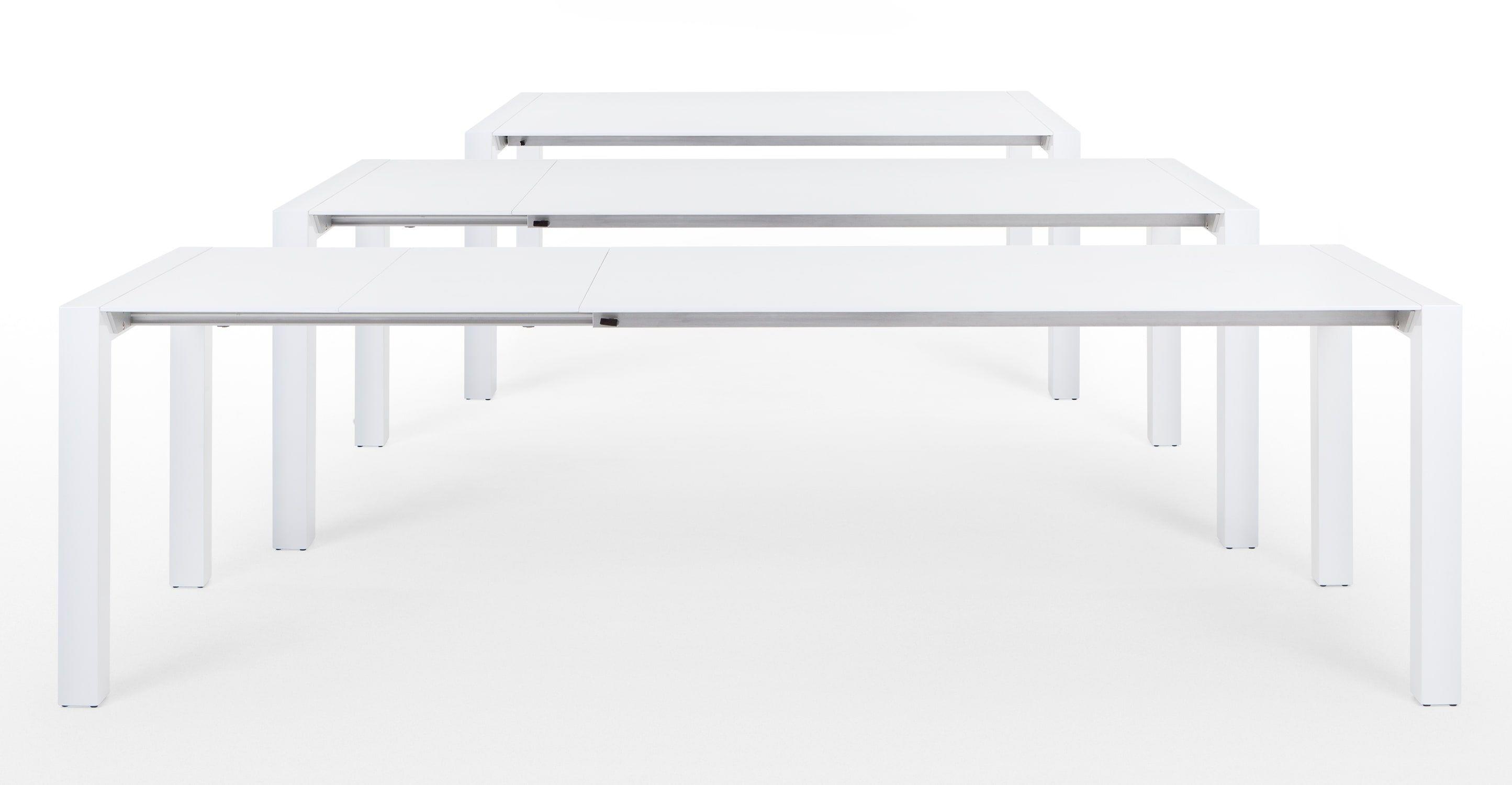 Moderne Uitschuifbare Eetkamertafels.Bramante Uitschuifbare Eettafel Wit Eettafels White Dining