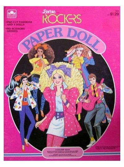 I had these paper dolls...Barbie and the Rockers haha!