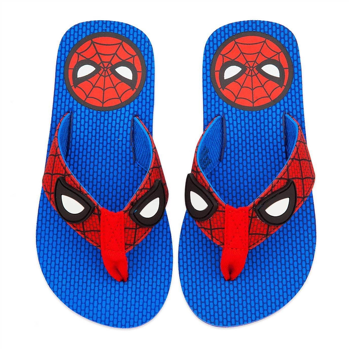 Spiderman Kids Navy Character Slipper
