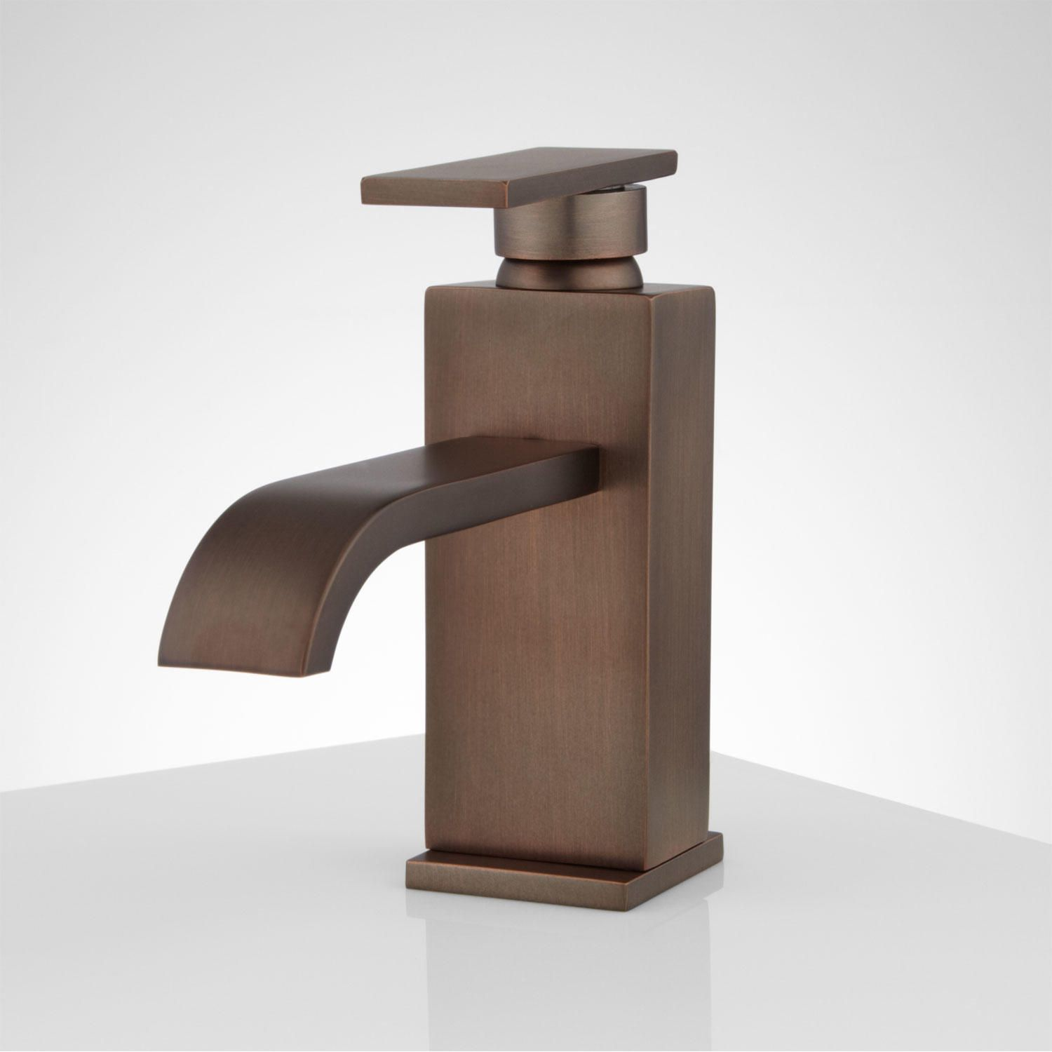 Abell Single Hole Bathroom Faucet | Waterfall faucet, Faucet and Oil ...