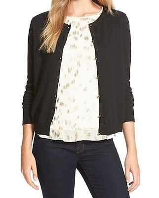 CeCe NEW Black Women's Size Medium M Button Down Cardigan Sweater ...