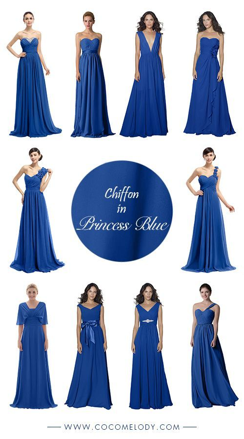 Mixing And Matching Your Bridesmaids In Princess Blue More Styles To Choose Mismatched Bridesmaid Dresses Blue Purple Bridesmaid Dresses Bridesmaid Dresses