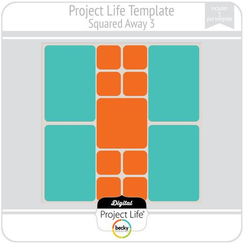 Project Life Template Squared Away   Scrapbooking  Project Life