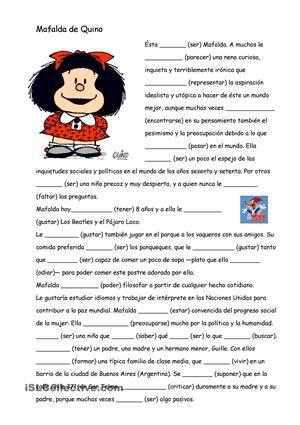 Rellenar Los Huecos Con La Forma Verbal Del Presente Indicativo Trabajos Ele Ejercicios De Español Verbos En Espanol Hojas De Trabajo