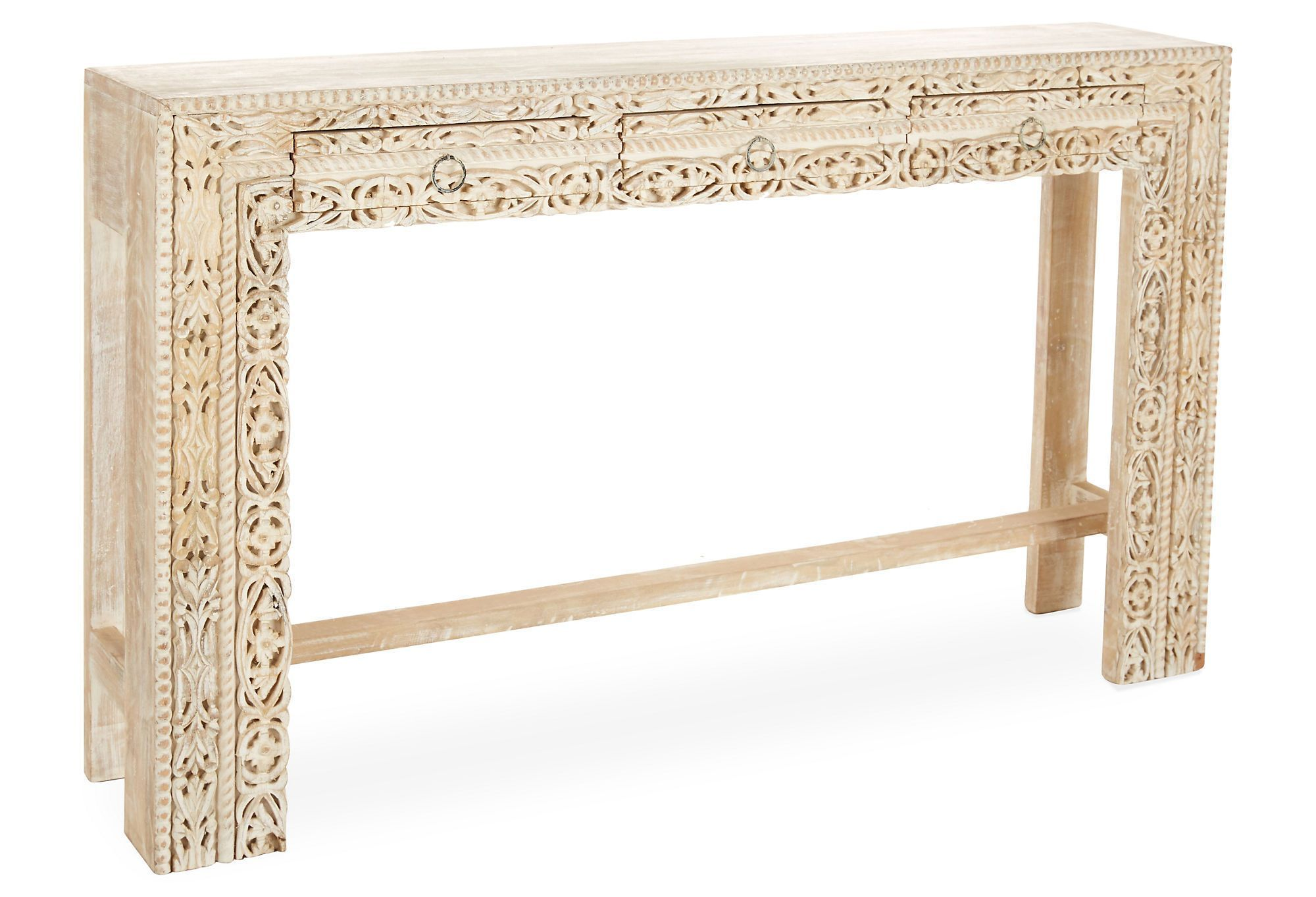 Violet Console Table, Whitewashed | One Kings Lane
