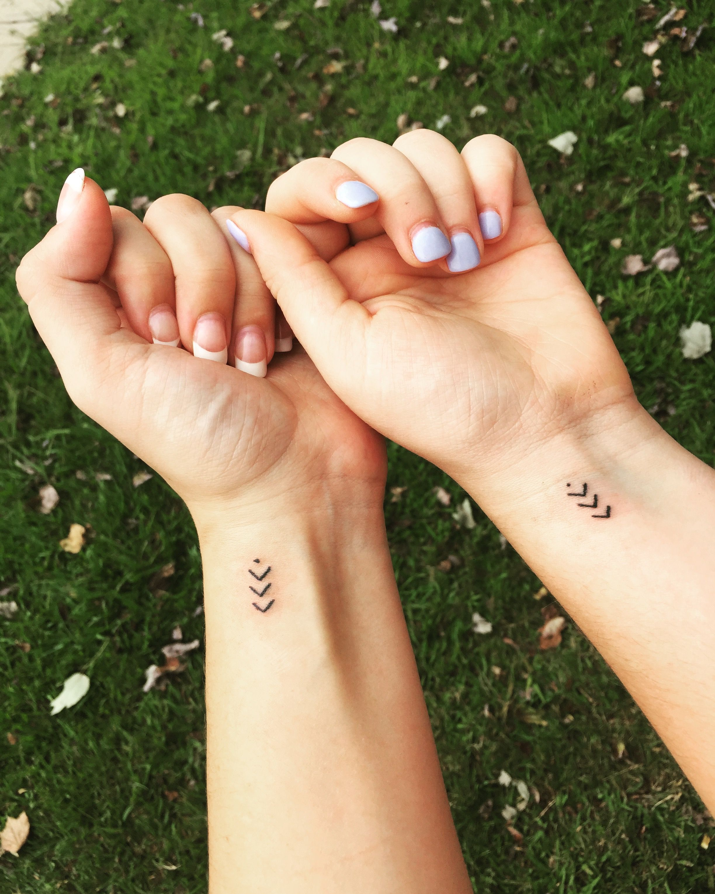 65293e9d75591 21 ideas tattoo matching cousinen for 3. In the past, present, and future,  I will always be there for you #cousins #tattoos #matchingtattoos