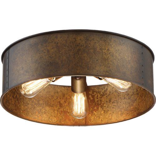 Vincent 3 Light 17 Unique Statement Drum Flush Mount In 2021 Flush Mount Ceiling Lights Flush Lighting Flush Mount Lighting
