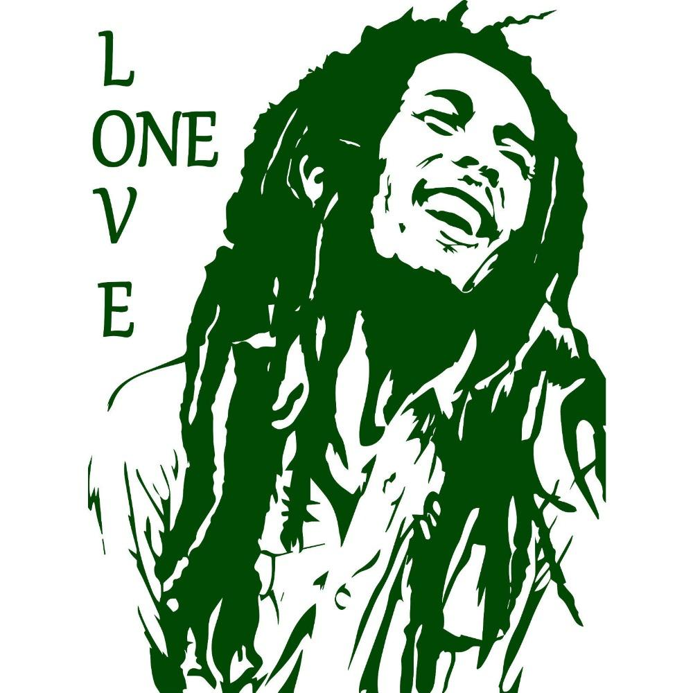 Bob Marley Reggae Rasta Jamaica Vinyl Sticker Bob Marley Art Bob Marley Tattoo Bob Marley Pictures