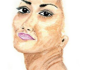 SERIES: I am not my hair TITLE: Bonita MEDIUM: Watercolour