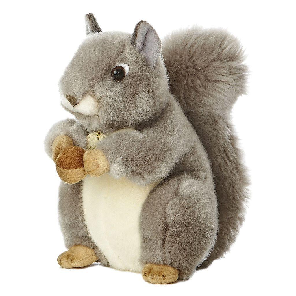 Aurora Miyoni 10 Grey Squirrel Plush Stuffed Animals Teddy Bear Stuffed Animal Squirrel Gift [ 1024 x 1024 Pixel ]