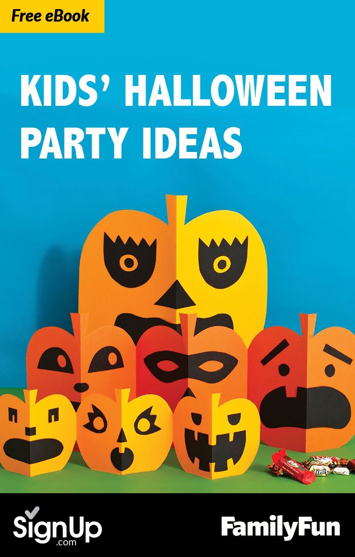 Free eBook Halloween Party Ideas for Kids - Craft, Snack, Activity - kids halloween party ideas