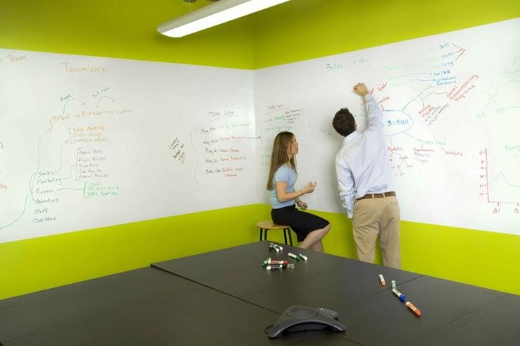 Let Your Ideas Flow Dry Erase Paint Whiteboard Wall White Board