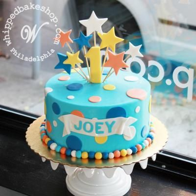 Outstanding Fireworks And Polkadots Birthday Cake By Whippedbakeshop Com Met Funny Birthday Cards Online Inifofree Goldxyz