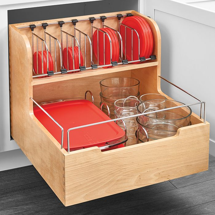 Base Cabinet Pullout Food Storage Container Organizer 24 Cool