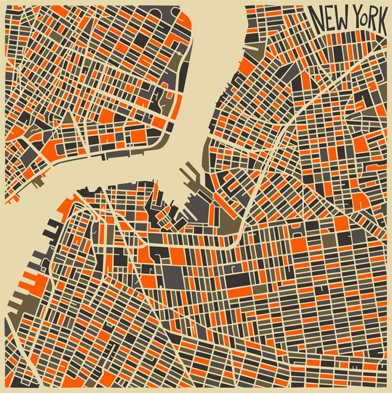 Modern abstract city maps city maps and graphics modern abstract city maps paris new york milan maps london publicscrutiny Images