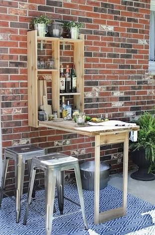 Fold Down Outdoor Bar Table Google Search Diy Outdoor Bar Small Backyard Landscaping Small Patio