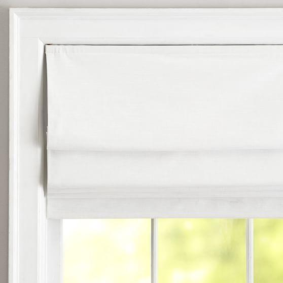 Classic Linen Roman Shade Linen Roman Shades White Linen Roman