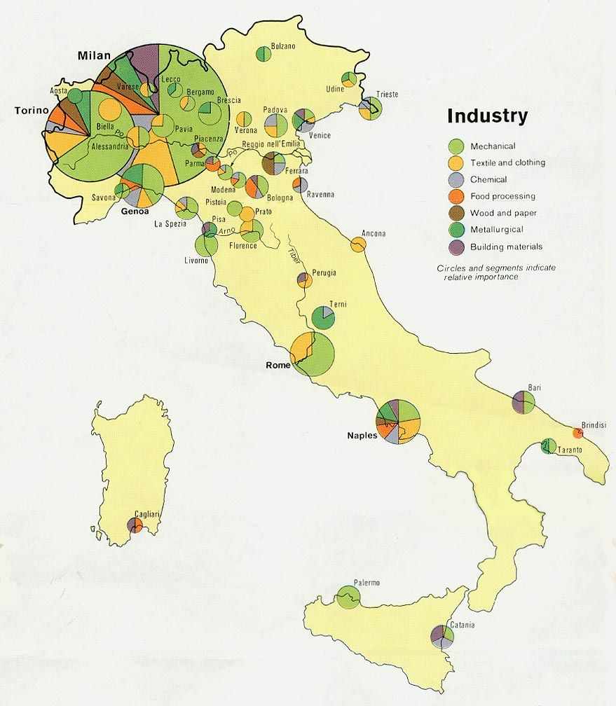 Economy In this picture you will see a map of Italy This map