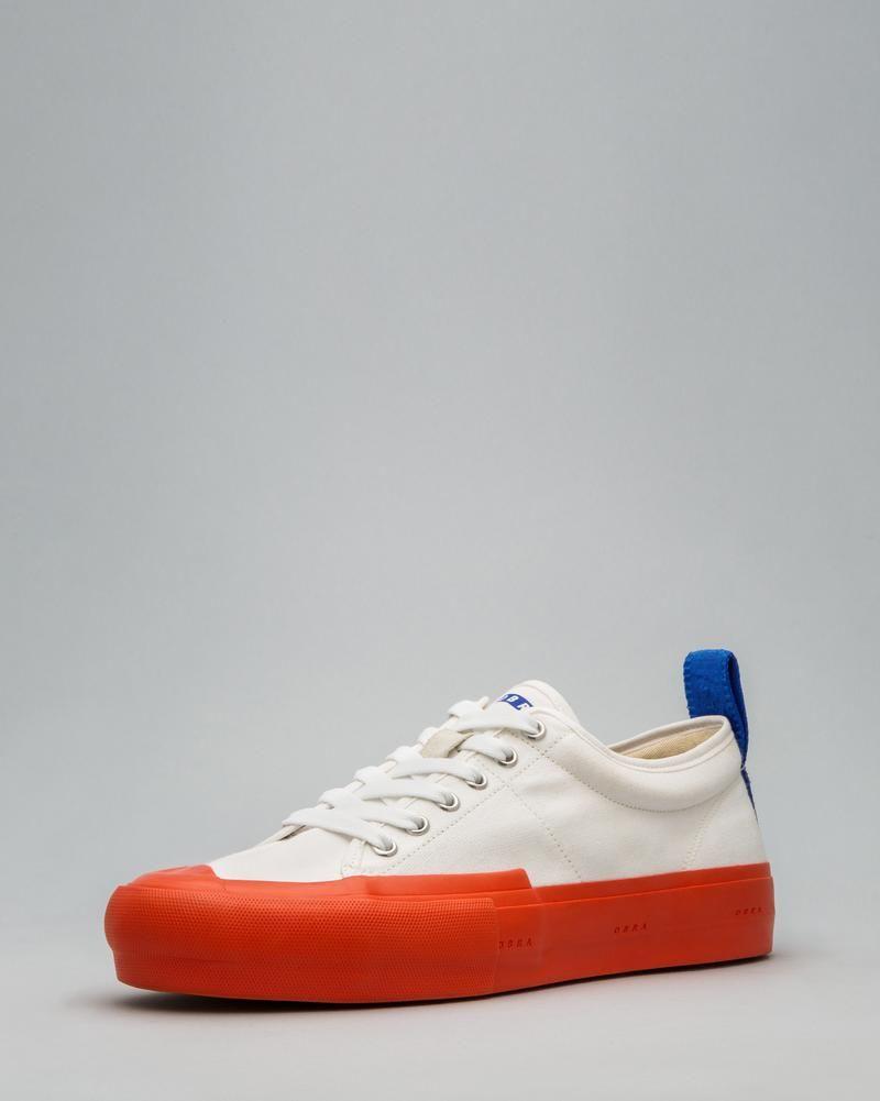 794fc3fba2 CANVAS LOW FULL CAP White/Utility Orange/OBRA Blue Shoe Websites, Mens Shoes