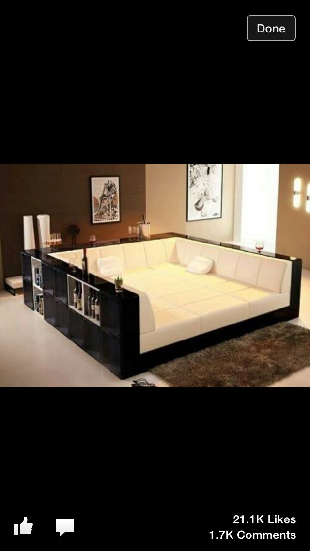 Couch Schwarz Giant Square Sofa-bed! You Could Roll Around For Hours