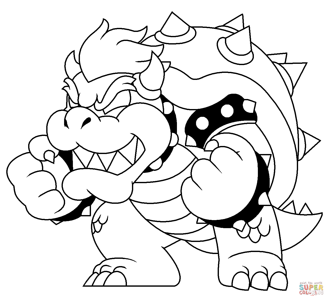 Bowser Coloring Page Free Printable Coloring Pages Mario Coloring Pages Super Mario Coloring Pages Coloring Pages