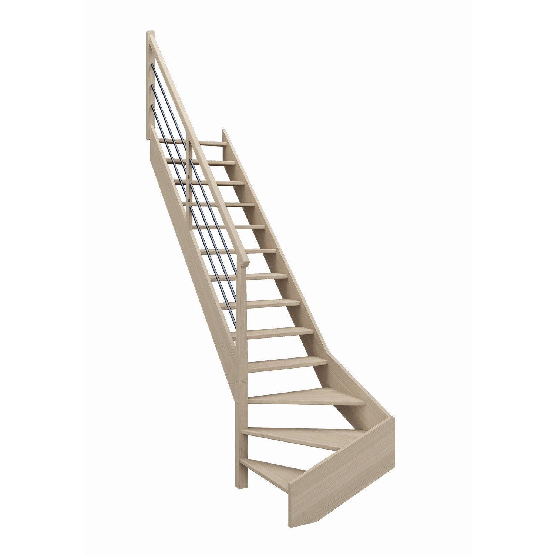 Escalier 1 4 Tournant Bas Gauche Bois Hetre Soft Tubes Scm 13 Mar