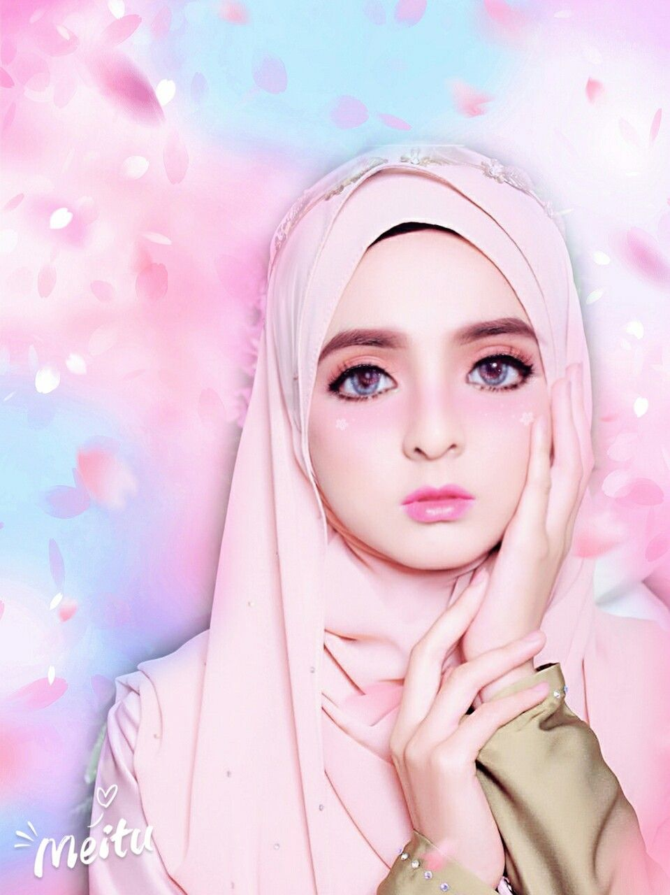 A Beautiful Princess With Hijab