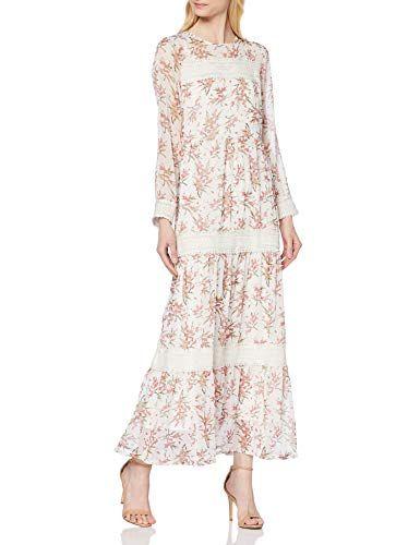 YAS Damen YASFIALA LS Ankle Chiffon Dress-FEST Kleid ...