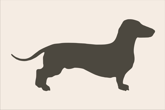 Stencils Dachshund Stencil Large 13 Wide X 6 5 Tall Pillow Stencil